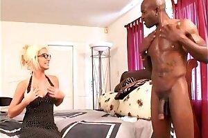 Blonde MILF Lets Black Neighbor Fuck Her