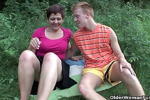 Mom will drain your balls in the great outdoors