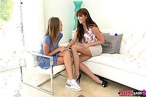 Moms Bang Teen  - Milf gives couple some sex therapy