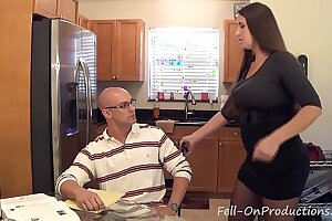 Madisin Lee in MILF mom helps son with his