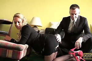 PASCALSSUBSLUTS - MILF Sasha Steele fed cum after BDSM sex