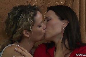 Hot MILF and her Daughter's friend Enjoy Lesbian sex