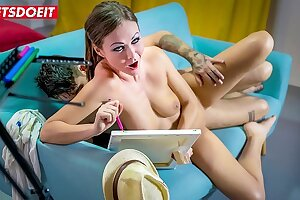 LETSDOEIT - Enthusiastic Painter MILF Tina Kay Loves To Ride Cock For Inspiration Purpose