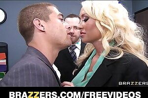 Incredibly HOT blonde Summer Brielle can't resist her co-worker