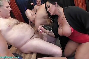 gangbang party with busty Milf Ashley Cum Star