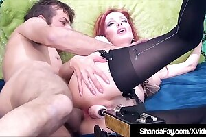 Cougar Shanda Fay Gets DP Machine In Cunt & Real Cock In Ass