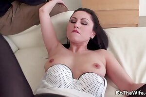 Horny wife Krishley Swoon rides a fat dick