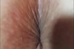 Fingering Real Amateur Housewife Ass and Pussy With Ass Winking and Cum On Ass