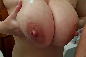 Husband Asked His Wife With Big Tits To Jerk His Cock